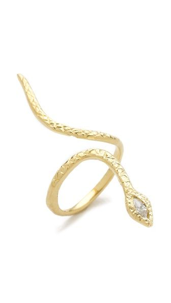Jacquie Aiche  Marquise Snake Ring