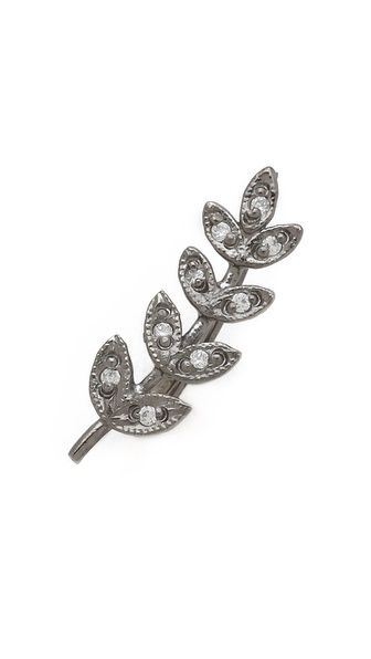 Jacquie Aiche  Pave Medium Leaf Ear Cuff