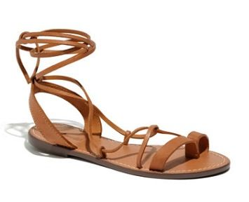 Madewell  The Leather Lace Sandals