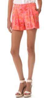 Rebecca Taylor  Rebecca Taylor Hibiscus Pleat Shorts