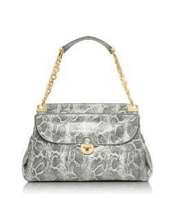Tory Burch  Tory Burch Lizard Printed Simon Top Handle Satchel