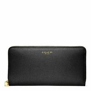 Coach  Saffiano Leather Soft Wallet