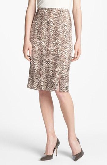 Alberto Makali  Cheetah Print Skirt