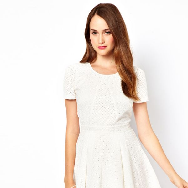 French Connection  Broderie Skater Dress