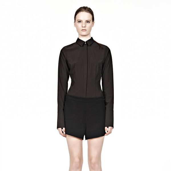 Alexander Wang  Black Viscose Crepe Shorts