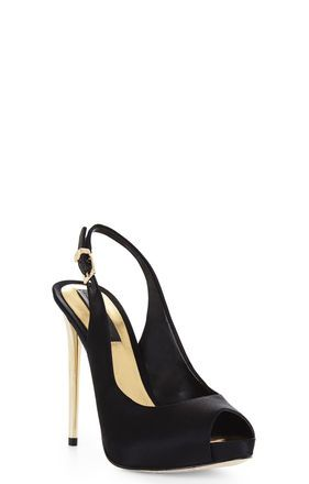 BCBG  Peep-Toe Sling Back Pump