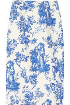 Duro Olowu  Toile de Jouy-Print Cotton-Blend Skirt