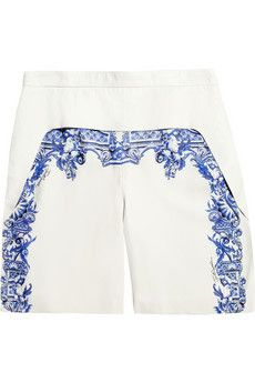 Just Cavalli  Printed Leather Shorts