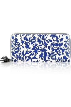 Diane von Furstenberg  Floral-Print Leather Wallet