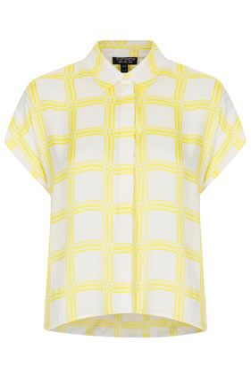 Topshop  Grid Check Shirt