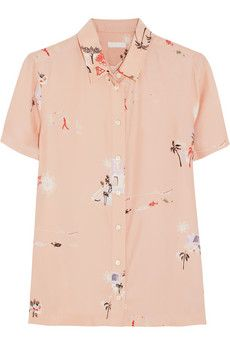 J.Crew  Grandpa Hawaiian-Print Silk Shirt