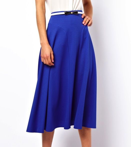 ASOS Midi Skirt in Texture