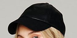 Free People Vegan Leather Baseball Hat