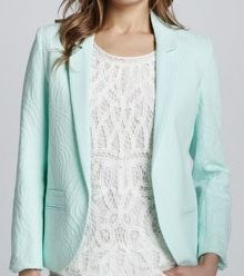 Erin Fetherston Jacquard Open-Front Blazer