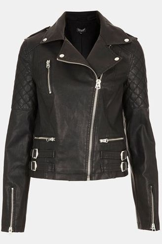 Topshop Wylde Faux Leather Biker Jacket