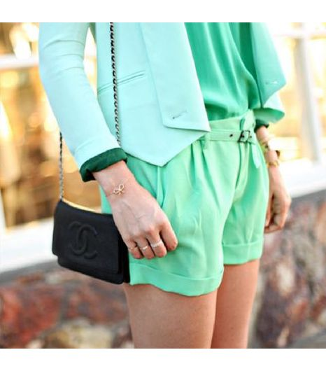 Dashofdarling is wearing: Rebecca Minkoff blazer, Joie dress, Joie shorts, Chanel bag.