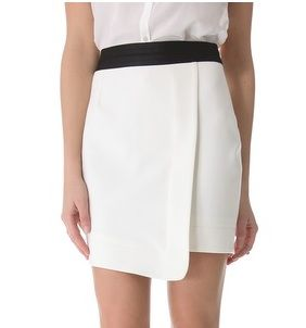 Elizabeth and James Asymmetrical Fold Skirt