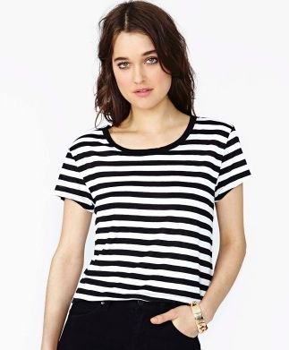 Nasty Gal Striped Tee