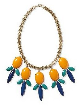 Pim + Larkin Colorful Cabochon Statement Necklace