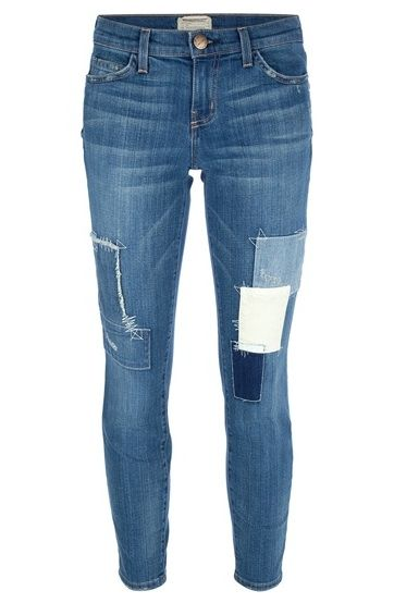 Current/Elliott Stiletto Patchwork Jean