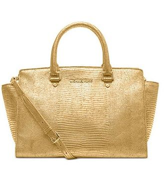 MICHAEL Michael Kors Selma Large Metallic Satchel