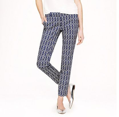 J.Crew Cafe Capri In Rope Print