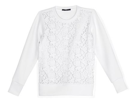 Tibiq White Lace Sweatshirt