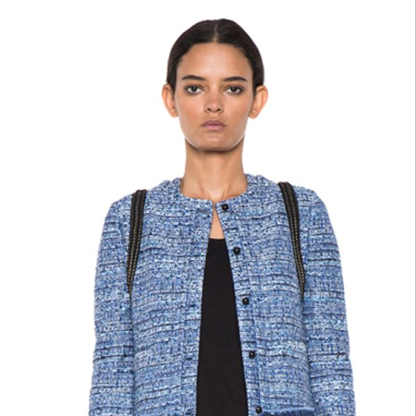 Joseph Jacket In Summer Tweed Blue