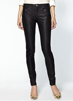 Free People Vegan Leather Seamed Skinny Pant