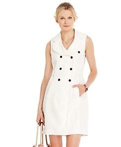 Tommy Hilfiger Linen Belted Dress With Trench Silhouette