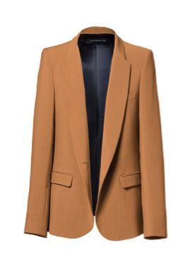 Zara Blazer with Rounded Lapel