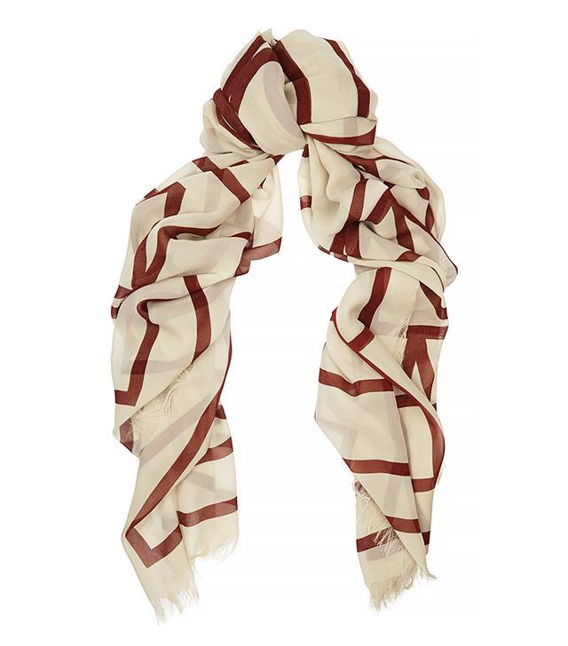 Totême Khalifa Oversized Silk-Georgette Scarf