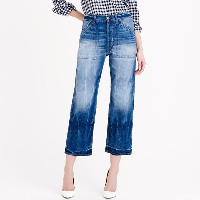 J.Crew Point Sur Teddy Cropped Jeans