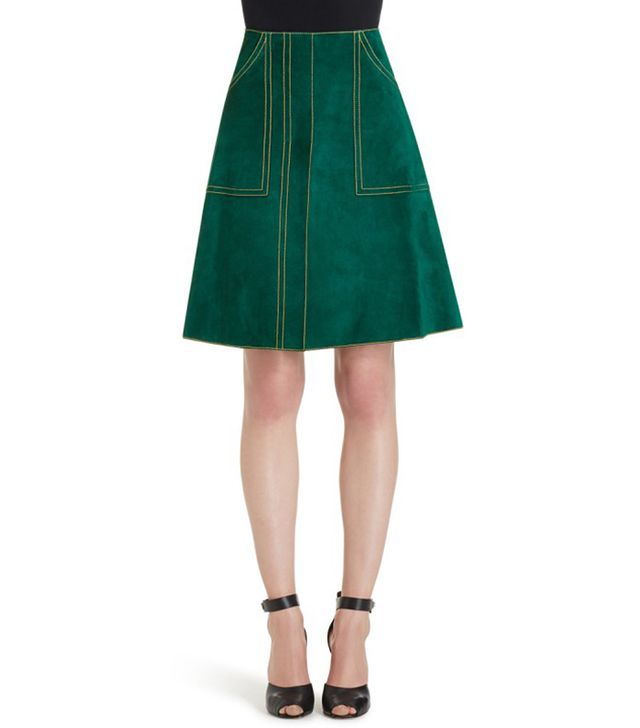 Derek Lam Suede A-Line Skirt