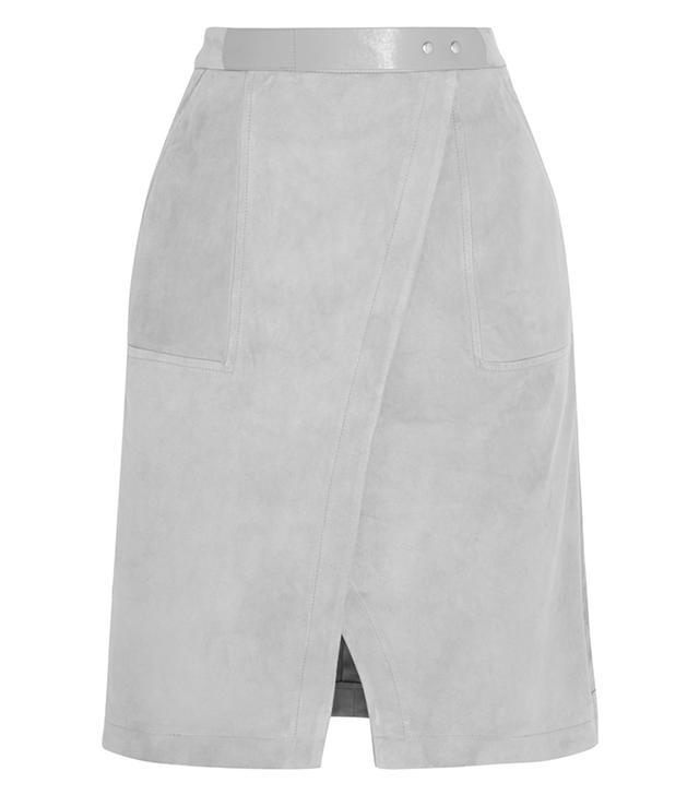 Halston Heritage Suede Skirt