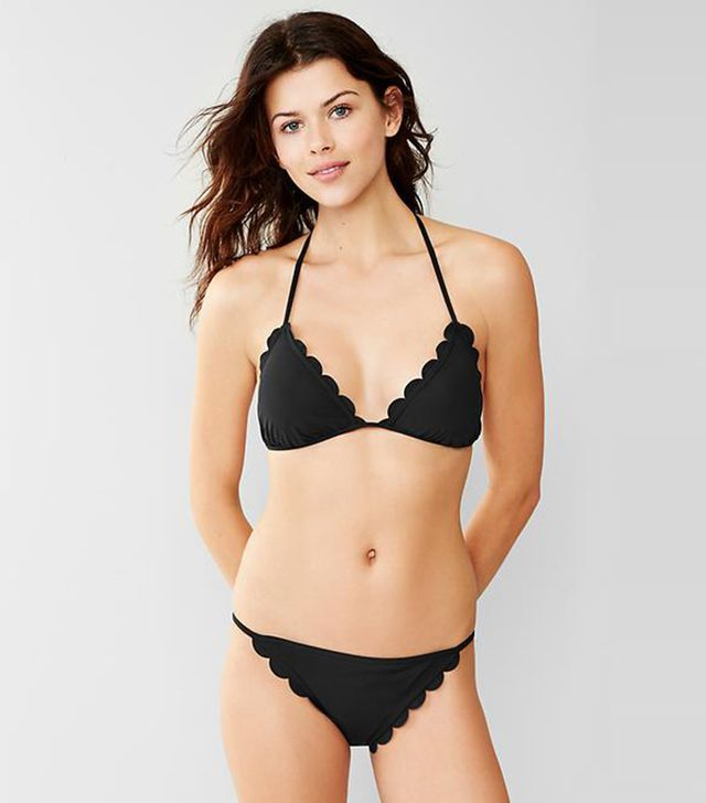 Gap Scallop-Trim Triangle Bikini Top