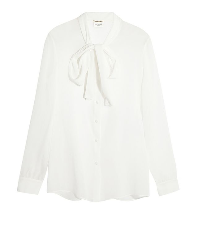 Saint Laurent Pussy-Bow Blouse