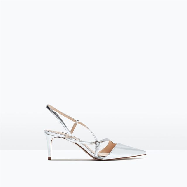 Zara Mid-Heel Strappy Shoes