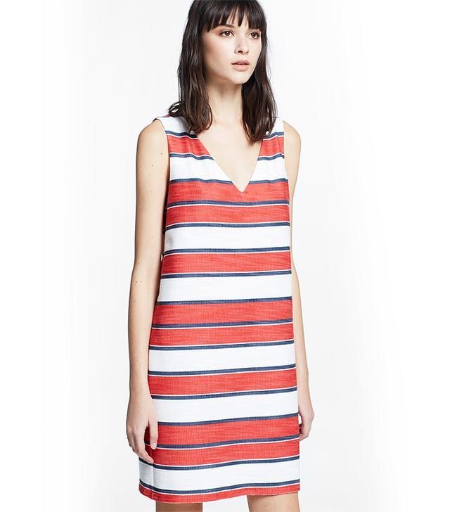 Mango Striped Cotton-Blend Dress