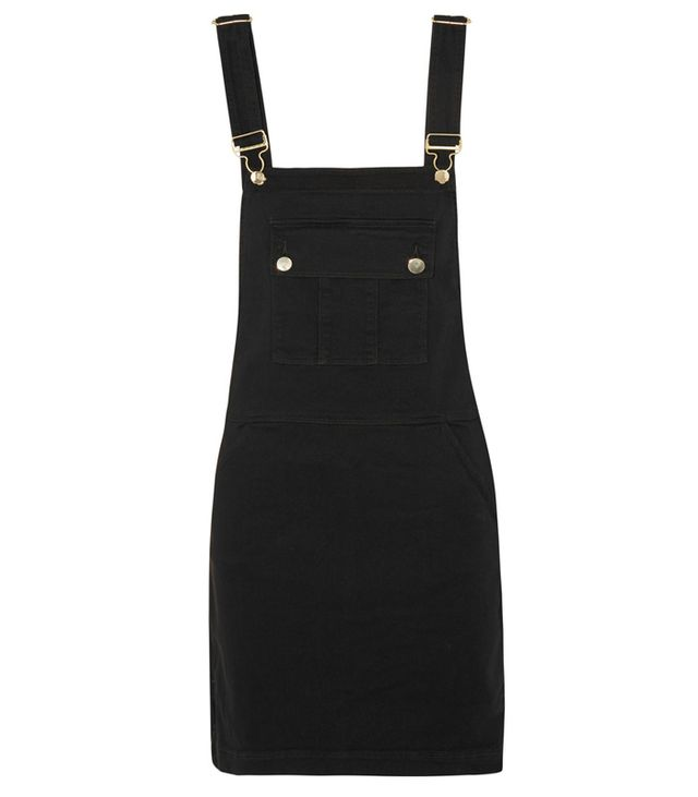 Frame Denim Le Apron Stretch Denim Mini Dress
