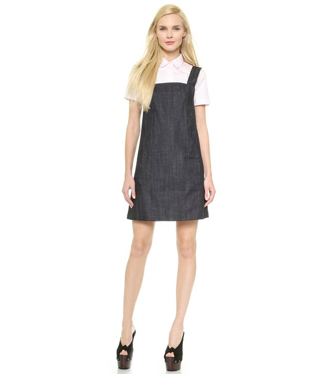 Victoria Beckham Trapeze Pinafore Dress