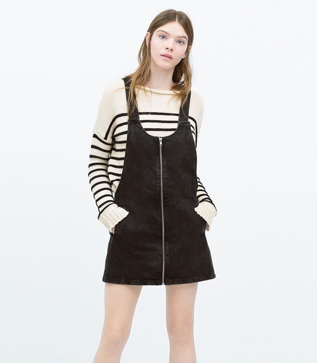 Zara Denim Jumper Skirt
