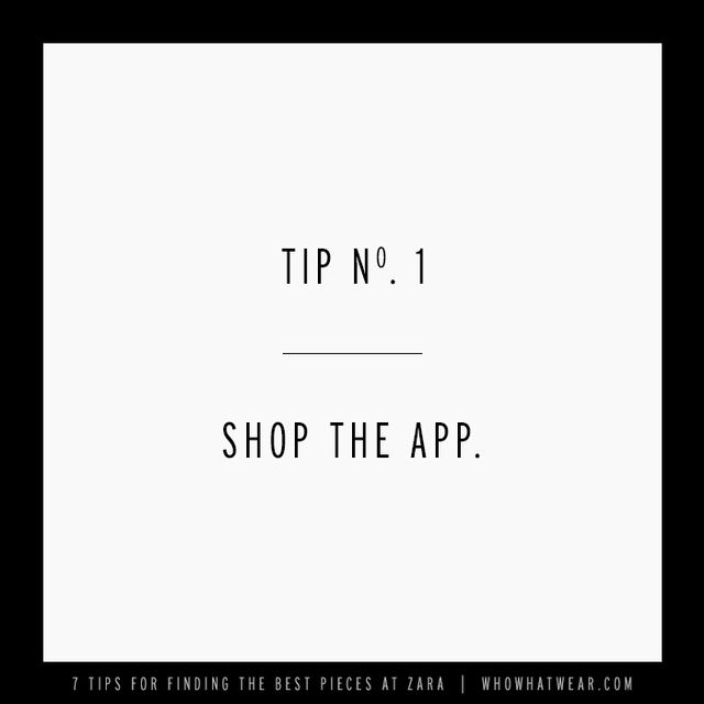 Download at your own risk, because Zara's user-friendly app makes shopping so easy and dangerously convenient. The brilliant app mirrors the brand's homepage with a new arrivals...