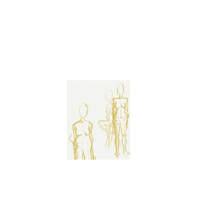 Heather Garrett Design Repose Wallpaper in Chantilly Gold