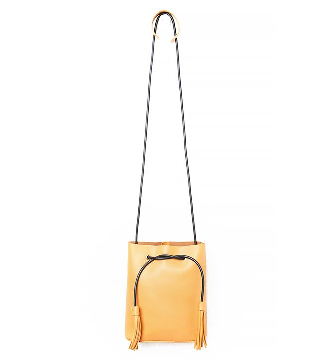 Jake Ryan Vegan Leather Tassel Bucket Bag