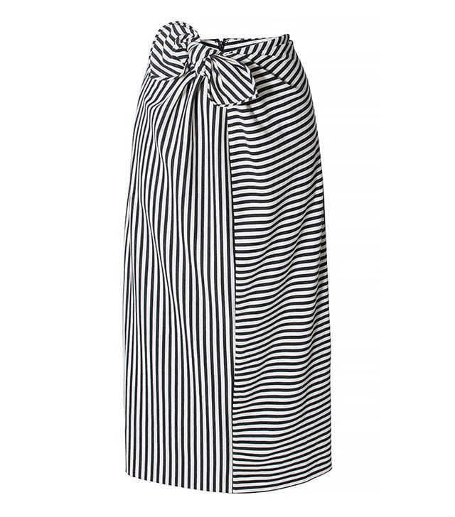 Tibi Ren Striped Knit Pencil Skirt
