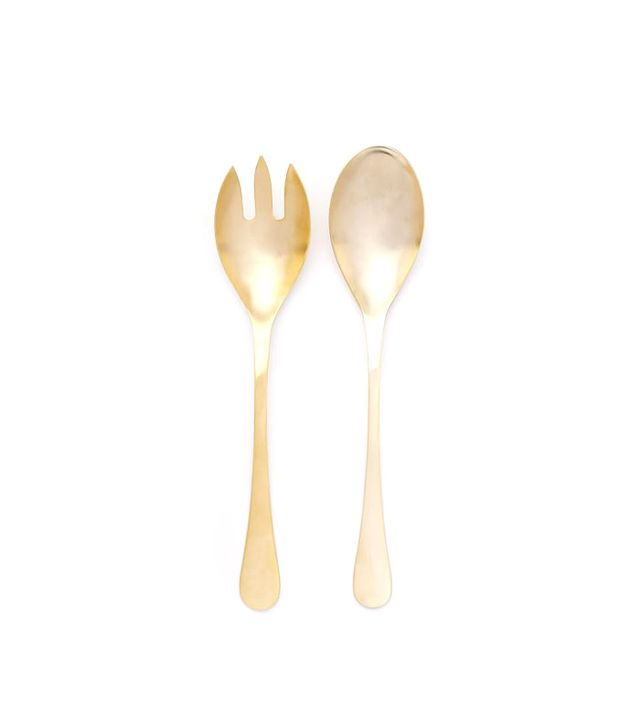 West Elm Gold Flatware Serving Set