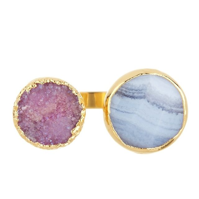 Janna Conner Vi Druzy & Agate Ring