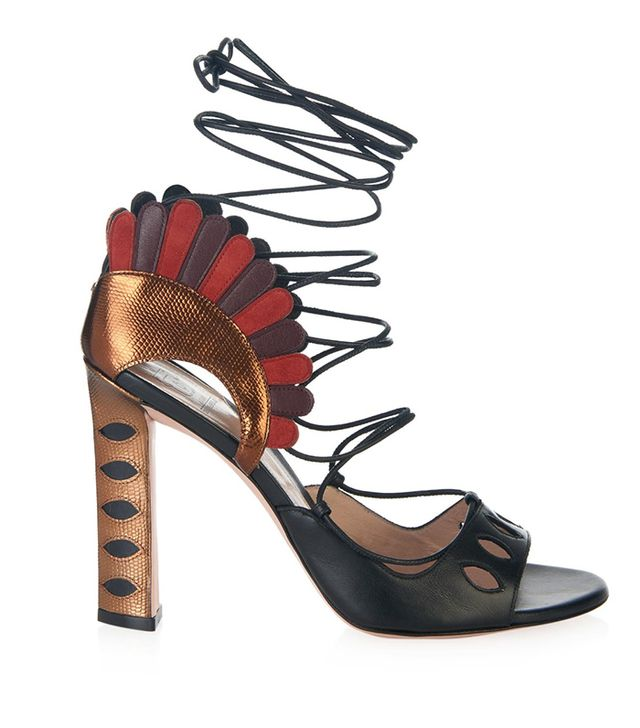 Paula Cademartori Lotus Lace-Up Sandals
