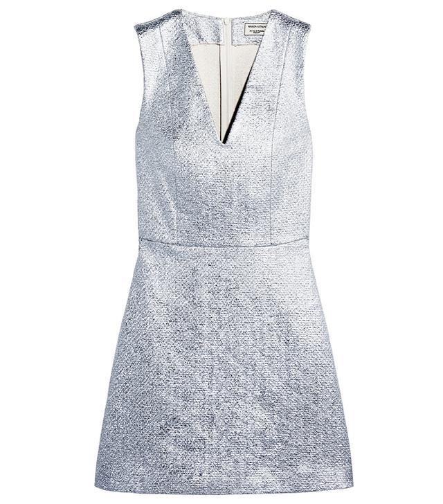 Maison Kitsune Metallic Mini Dress
